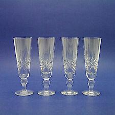More details for four stuart crystal 'glengarry' pattern champagne flutes/glasses - 18.5cm high