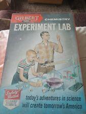 Vintage Gilbert Chemistry Experiment Lab  1950s!