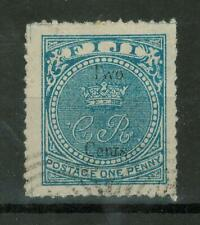 Fiji - 1872 Number 10-12 Surcharged (2/1C/P) Used, 273
