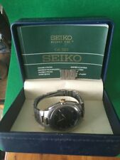 Seiko 5J22-0B39 Kinetic Auto Relay Men's Watch Date Stainless Steel
