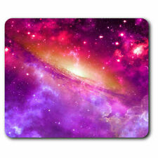 Computer Mouse Mat - Pink Purple Black Hole Space Galaxy Nebula Office Gift #242