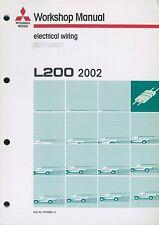 2002 MITSUBISHI L200 ELEKTRIK SCHALTPLÄNE ELECTRICAL WIRING DIAGRAM SUPPLEMENT