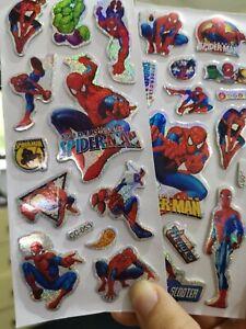 3 X Spider-man 3D stickers sheets  boys party/ decoration Scrap-booking Au
