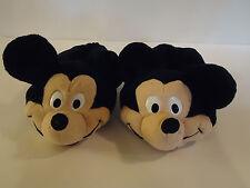 Vintage Disney Stuff Mickey Mouse Child Size 13-1 SLIPPERS Plush Animal Face