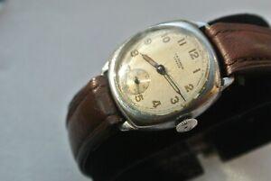 Vintage J.W.Benson Mens Cushion Shape Watch - Good Working Order - Circa 1940s