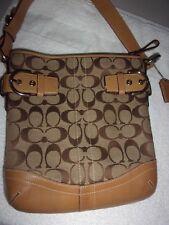 COACH 3577 Soho Buckles Signature Jacquard Tan Leather shoulder handbag
