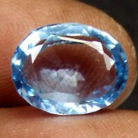 AAA 6.85 Ct. Natural Aquamarine Oval shape loose certified Gemstone F 508