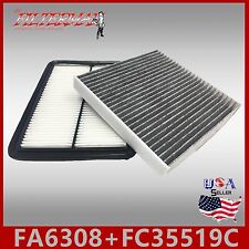 FA6308 FC35519C(CARBON) ENGINE & CABIN AIR FILTER ~ 09-14 TL & 08-12 ACCORD V6