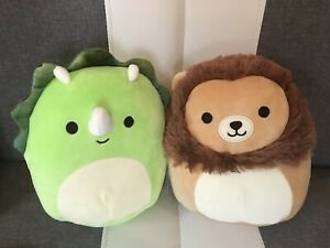 Soft Toys Bundle Soft Toy Dinosaur Squishmallow Triceratops & Lion Squishmallow