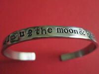 """ I love you to the moon back"" bracelet"