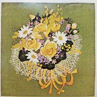 Bucilla Spring Bouquet Crewel Embroidery Kit 2168 Creative Needlecraft Open Vtg