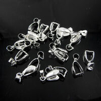 Wholesale Lots 925 Solid Silver Pendant Pinch Clasp Bail Clasp Connectors