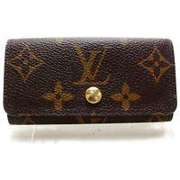 Authentic Louis Vuitton Key Case Multicles4 Browns Monogram 1203640