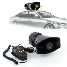 12V 100W 7Sound Loud Car Warning Alarm Police Fire Siren Air Horn MIC PA Speaker