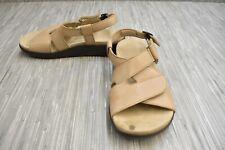 SAS Huggy Leather Slingback Sandals, Women's Size 8.5W, Truffle