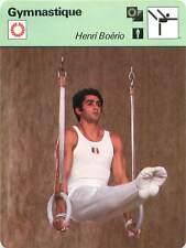FICHE CARD: Henri Boerio France Barre fixe Barres parallèles Gymnastics 1970s