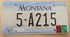 "MONTANA LOW NUMBER AUTO LICENSE PLATE "" 5 A 215 "" MT HELENA LEWIS & CLARK CO."