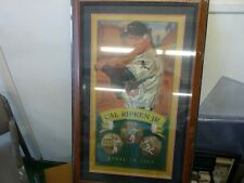 CAL RIPKEN AUTOGRAPH LITHOGRAPH BEAUTIFULLY FRAMED W/ IRONCLAD STICKER