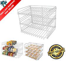 Can Food Storage Organizer Kitchen Cabinet Pantry Canned Goods Shelf Rack Holder