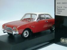 WOW EXTREMELY RARE Ford Taunus P3 17m Saloon 1960 Red/ Cream 1:43 Minichamps-GT
