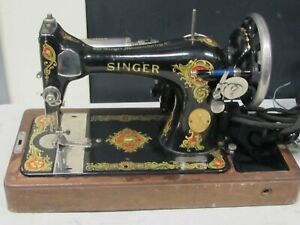Vintage Singer Sewing Machine 1928-1930 with Bentwood Case. # AC721878