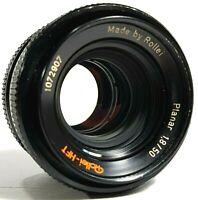 Rollei HFT Planar F/1.8 50mm Prime Lens Rollei QBM Mount UK Fast Post