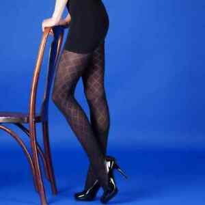 Silky Black Diamond Opaque Tights Medium, Large and Extra Large