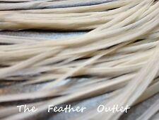 Lot 10 Grizzly Feathers Hair Extensions saddle Wedding Cream Solid White