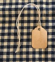100 TINY Coffee Stained Primitive Antique Store Price Gift Hang Tags crafts lot
