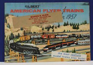 Original 1957 American Flyer Train Catalog Morris B Klein Baltimore