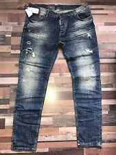 DSQUARED 2 Uomo Jeans Slim DESTROYED JEANS collectione 2017 s71lb3737 Taglia 54 NUOVO