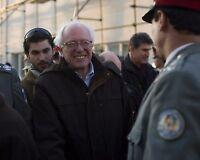 Senator Bernie Sanders with Afghan police officers in Kabul 2011 Photo Print