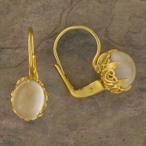 Mayfair Moonstone Earrings: Museum of Jewelry