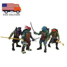 """4PCS Teenage Mutant Ninja Turtles Movie 4"""" Action Figure Kids Toys Gift"""
