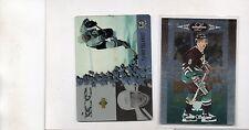 2-teemu selanne anaheim ducks 1996/97 64 leaf limited 1997/98 ud ice mcd 11 lot