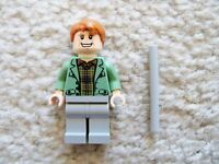 LEGO Harry Potter - Rare Arthur Weasley Minifig w/ Wand - From 4840 - Excellent
