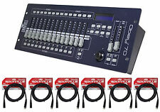 New! Chauvet DJ OBEY 70 Light/Fog DMX Lighting Controller+(6) 10 ft. DMX Cables