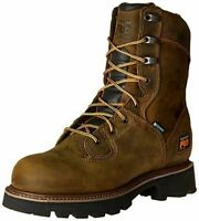 "Timberland PRO Men's 8"" Crosscut Logger Steel-Toe Waterproof Work Hunt Boot"