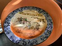 "Antique Royal Doulton Falconry Series 12.5"" serving Plate D3646 Doulton's"