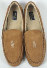 POLO Ralph Lauren Brown Big Pony Slippers Rubber Sole NWT