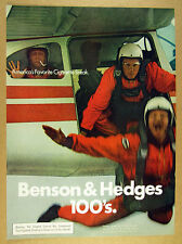 1972 parachute jump airplane photo Benson & Hedges Cigarettes vintage print Ad