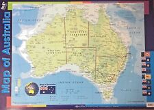 Map of Australia - Poster (69 x 49cm) Double sided, Durable + State Flags