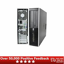 HP Compaq 8000 Elite Ultra-Slim Desktop 500GB Computer 4GB Windows 10 Pro Black