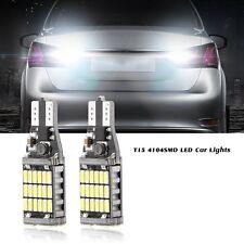 2PCS T15 W16W Pure White CANBUS Error Free Reverse COB Car LED Light Bulb Lamp