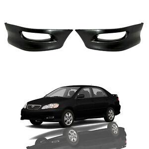 For 2005 2008 Toyota Corolla Front Bumper Sport Splitter Lips Spoiler Body Kit