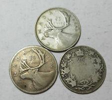 1930-1942-1949 Canadian Quarters (#86F)