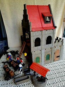 Playmobil Fachwerkhaus zur 3666 Burg Erweiterung fast Rathaus 3447 Schenke 3448