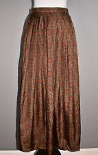 BURBERRYS' VINTAGE $960 Silk Damask Print Pleated Midi Skirt Size 10