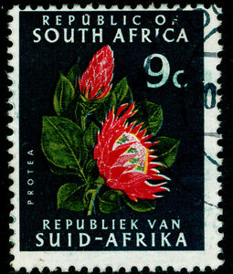 SOUTH AFRICA SG245a, 9c red, yellow & slate-green, FINE USED, CDS.