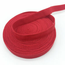 """5yds 3/8"""" Fold Over Elastics Spandex Satin Band Lace Sewing Trim Watermelon Red"""